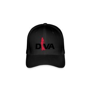 Diva Figure - Gold Glitter - Black - Flexfit Baseball Cap