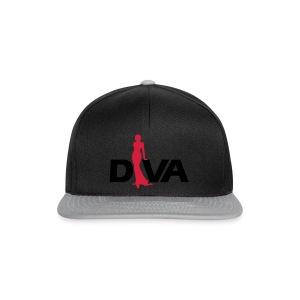 Diva Figure - Gold Glitter - Black - Snapback Cap