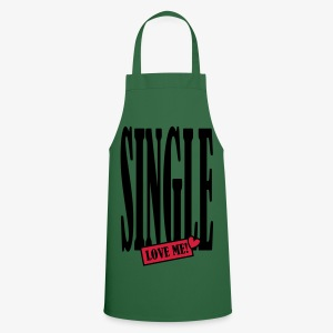 SINGLE - love me! 2c Männer Shirt khaki + alle Farben - Kochschürze
