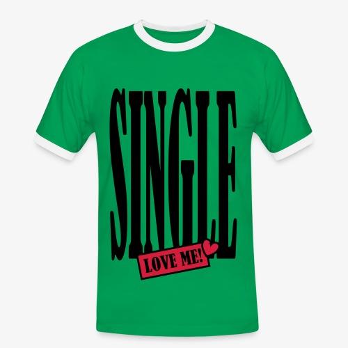 SINGLE - love me! 2c Männer Shirt khaki + alle Farben - Männer Kontrast-T-Shirt