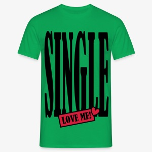 SINGLE - love me! 2c Männer Shirt khaki + alle Farben - Männer T-Shirt