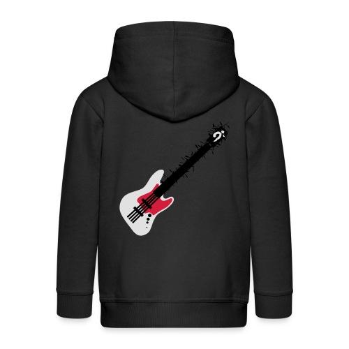 Bass Woman - Felpa con zip Premium per bambini