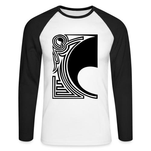 girlyshirt ying yang double part one - Männer Baseballshirt langarm