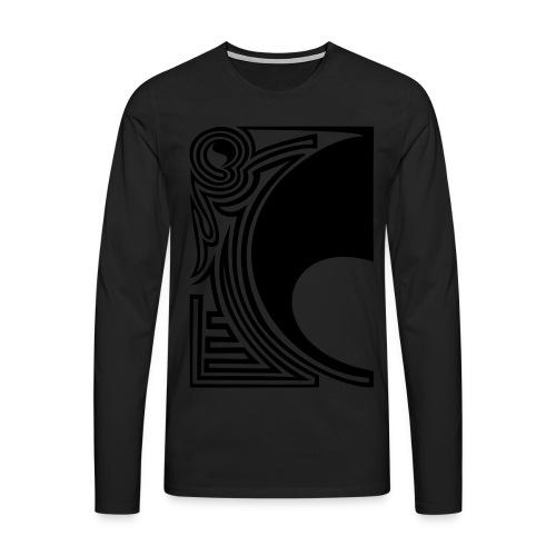 girlyshirt ying yang double part one - Männer Premium Langarmshirt