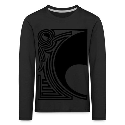 girlyshirt ying yang double part one - Kinder Premium Langarmshirt