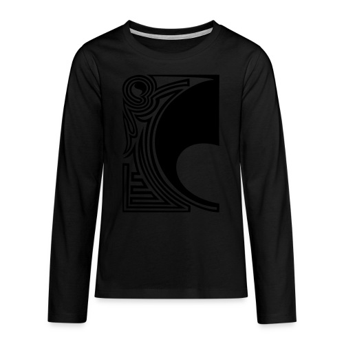 girlyshirt ying yang double part one - Teenager Premium Langarmshirt