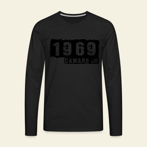 1969 Camaro T-shirt  - Herre premium T-shirt med lange ærmer