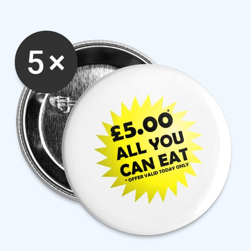 Special Offer Ladies T-Shirt - Buttons large 2.2''/56 mm(5-pack)