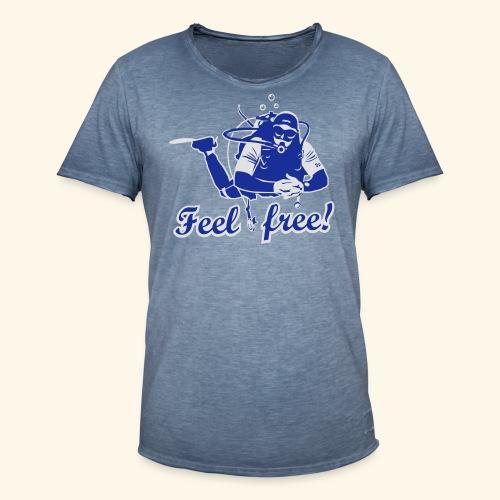 Feel free!, bicolor - Männer Vintage T-Shirt