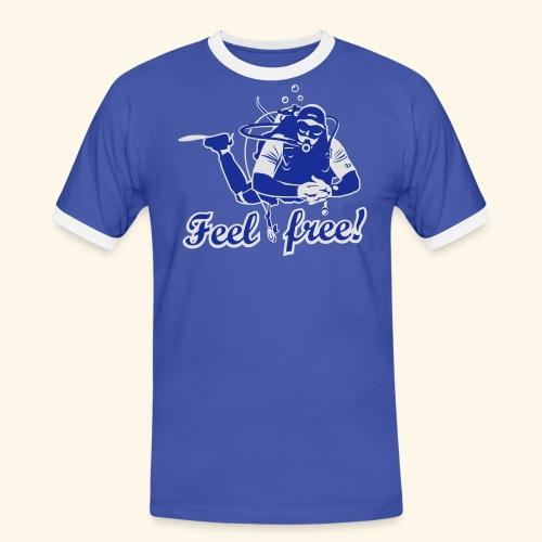 Feel free!, bicolor - Männer Kontrast-T-Shirt