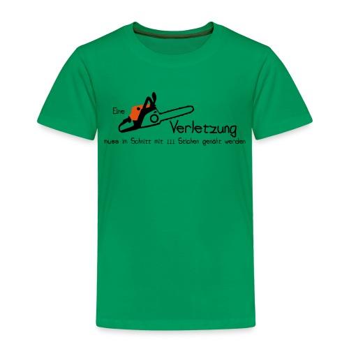 Kettensägenverletzung - Kinder Premium T-Shirt