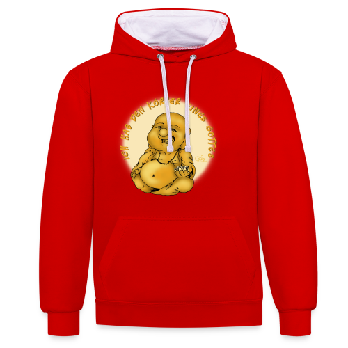 Göttlicher Körper (extragroß) - Kontrast-Hoodie