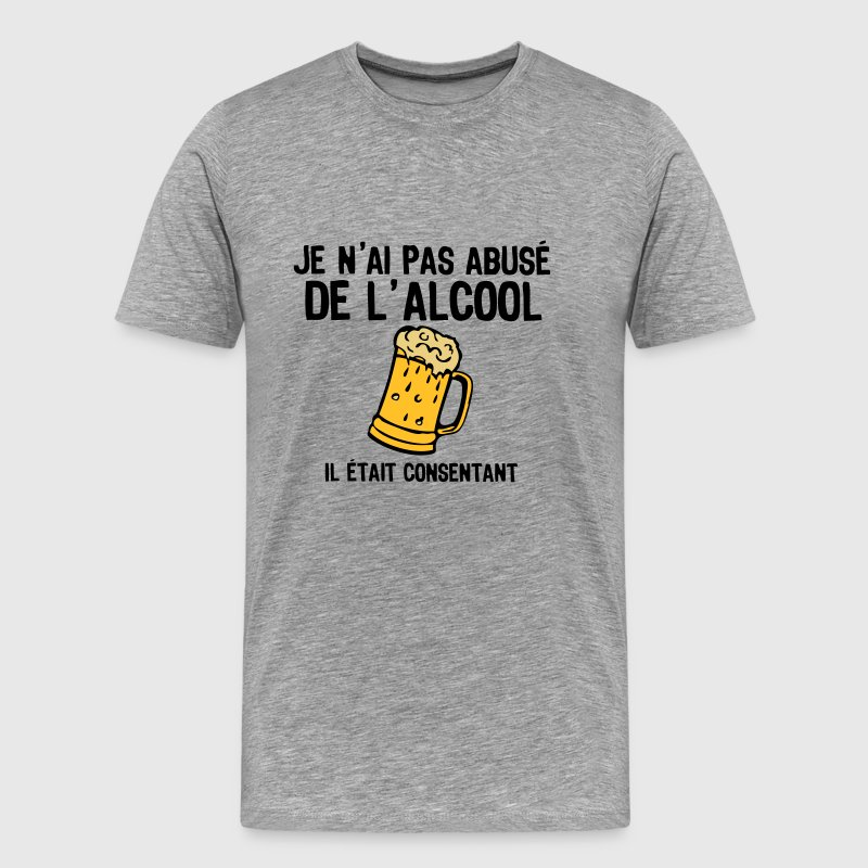 abuse alcool consentant1 biere Tee shirts - T-shirt Premium Homme