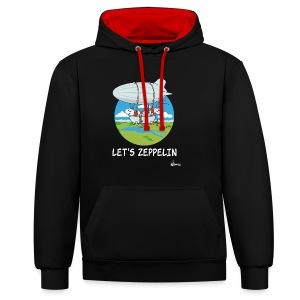 Let's Zeppelin - Kontrast-Hoodie