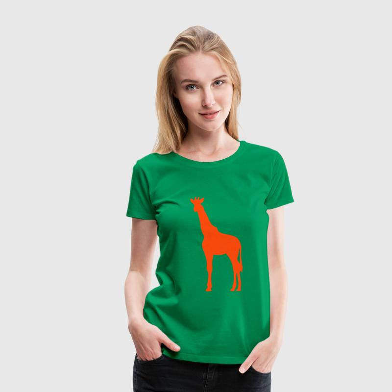 girafe silhouette ombre shadow2 Tee shirts - T-shirt Premium Femme