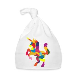 Einhorn bunt - Baby Mütze
