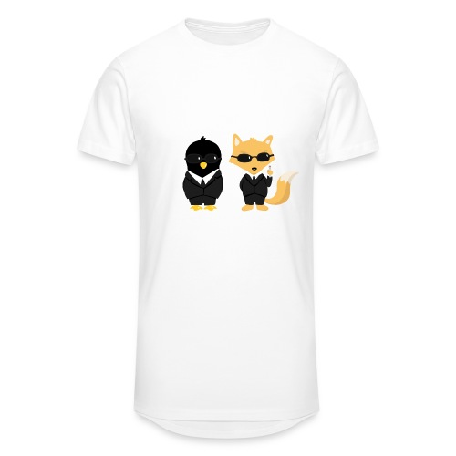 Geeks in black Tee shirts - T-shirt long Homme