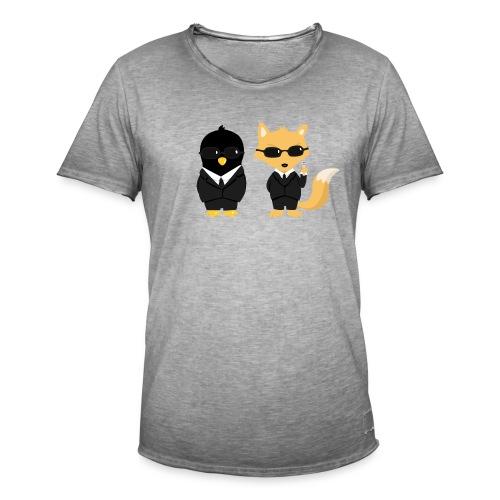 Geeks in black Tee shirts - T-shirt vintage Homme
