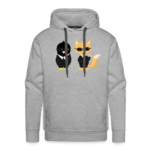 Geeks in black Tee shirts - Sweat-shirt à capuche Premium pour hommes