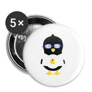 Pingouin Geek Tee shirts - Badge petit 25 mm