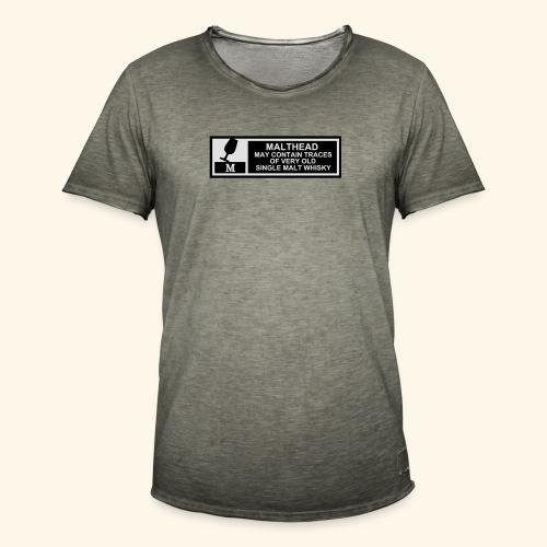 Malthead Warning, Girlie - Männer Vintage T-Shirt