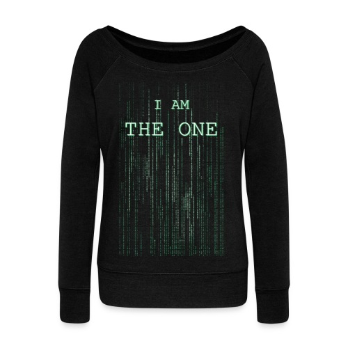 I am the one - Women's Boat Neck Long Sleeve Top