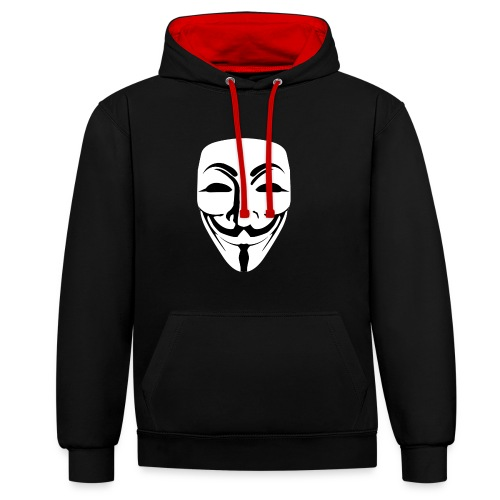 Anonymous - Guy Fawkes - Contrast Colour Hoodie