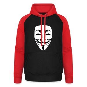 Anonymous - Guy Fawkes - Unisex Baseball Hoodie