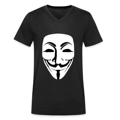 Anonymous - Guy Fawkes - Men's Organic V-Neck T-Shirt by Stanley & Stella