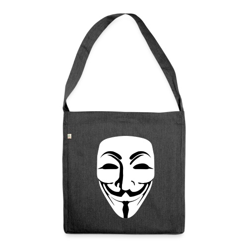 Anonymous - Guy Fawkes - Shoulder Bag made from recycled material