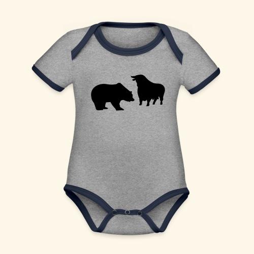 Bulle und Bär, Girlie - Baby Bio-Kurzarm-Kontrastbody