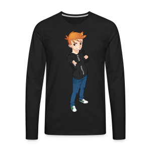 Simon Cartoon - Shirt (unisex) - Herre premium T-shirt med lange ærmer