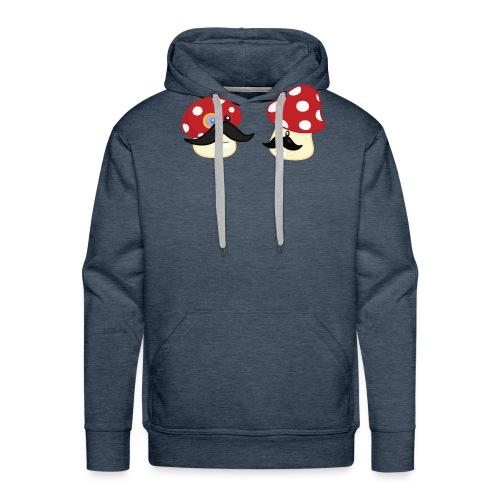 Champignons moustachus - T-shirt geek - Sweat-shirt à capuche Premium pour hommes