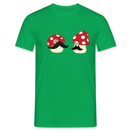 Champignons moustachus - T-shirt geek - T-shirt Homme
