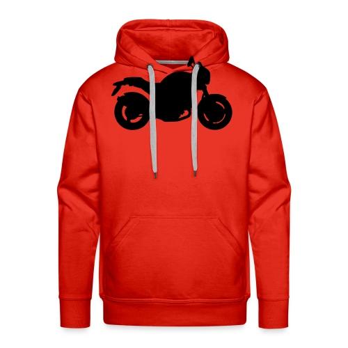 Monster Red - Felpa con cappuccio premium da uomo