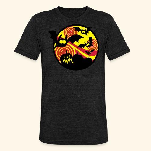 Fledermäuse & Kürbisse, Biggie - Unisex Tri-Blend T-Shirt von Bella + Canvas