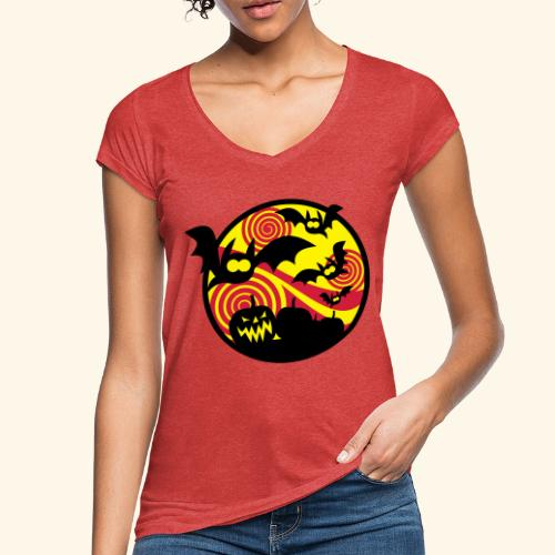 Fledermäuse & Kürbisse, Biggie - Frauen Vintage T-Shirt