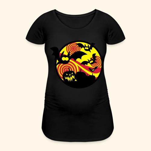 Fledermäuse & Kürbisse, Biggie - Frauen Schwangerschafts-T-Shirt