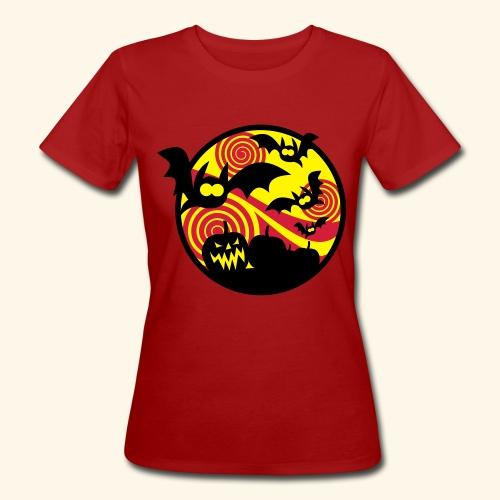 Fledermäuse & Kürbisse, Biggie - Frauen Bio-T-Shirt