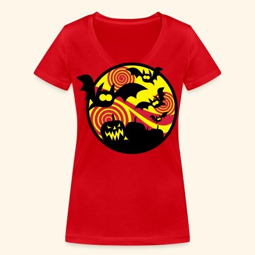 Fledermäuse & Kürbisse, Biggie - Frauen Bio-T-Shirt mit V-Ausschnitt von Stanley & Stella