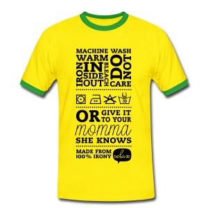T-shirt: Moeder weet het beter - Mannen contrastshirt