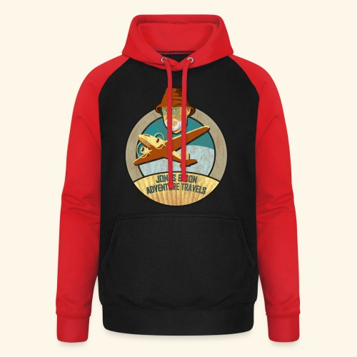 Jones Adventure Travels, Girlie - Unisex Baseball Hoodie