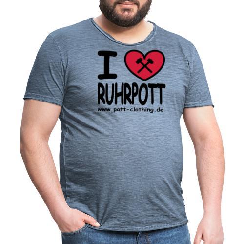 i love Ruhrpott by Ruhrpott Clothing - Männer Shirt klassisch - Männer Vintage T-Shirt