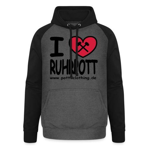i love Ruhrpott by Ruhrpott Clothing - Männer Shirt klassisch - Unisex Baseball Hoodie