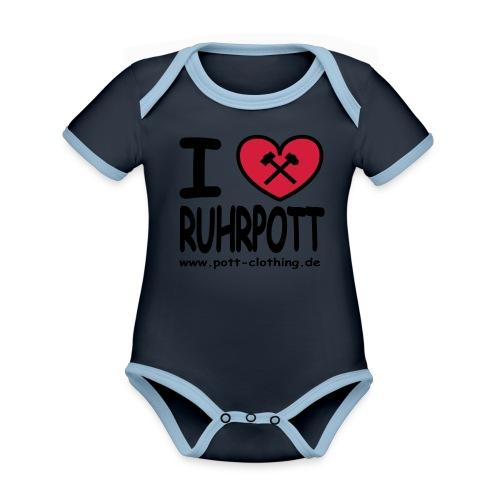 i love Ruhrpott by Ruhrpott Clothing - Männer Shirt klassisch - Baby Bio-Kurzarm-Kontrastbody