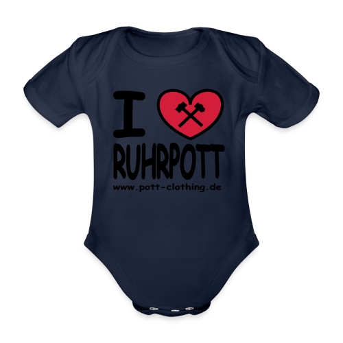 i love Ruhrpott by Ruhrpott Clothing - Männer Shirt klassisch - Baby Bio-Kurzarm-Body