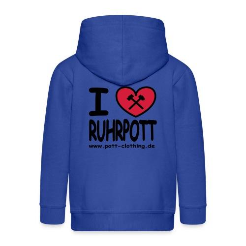 i love Ruhrpott by Ruhrpott Clothing - Männer Shirt klassisch - Kinder Premium Kapuzenjacke