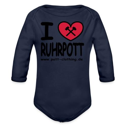 i love Ruhrpott by Ruhrpott Clothing - Männer Shirt klassisch - Baby Bio-Langarm-Body