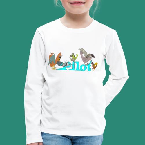 pilot T-Shirts - Kinder Premium Langarmshirt