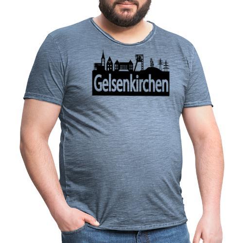 Skyline Gelsenkirchen - Männer T-Shirt klassisch - Männer Vintage T-Shirt